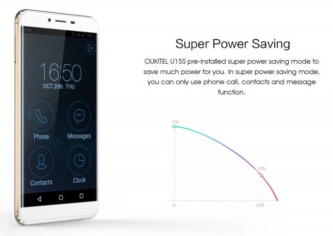 oukitel-u15s-power-saving