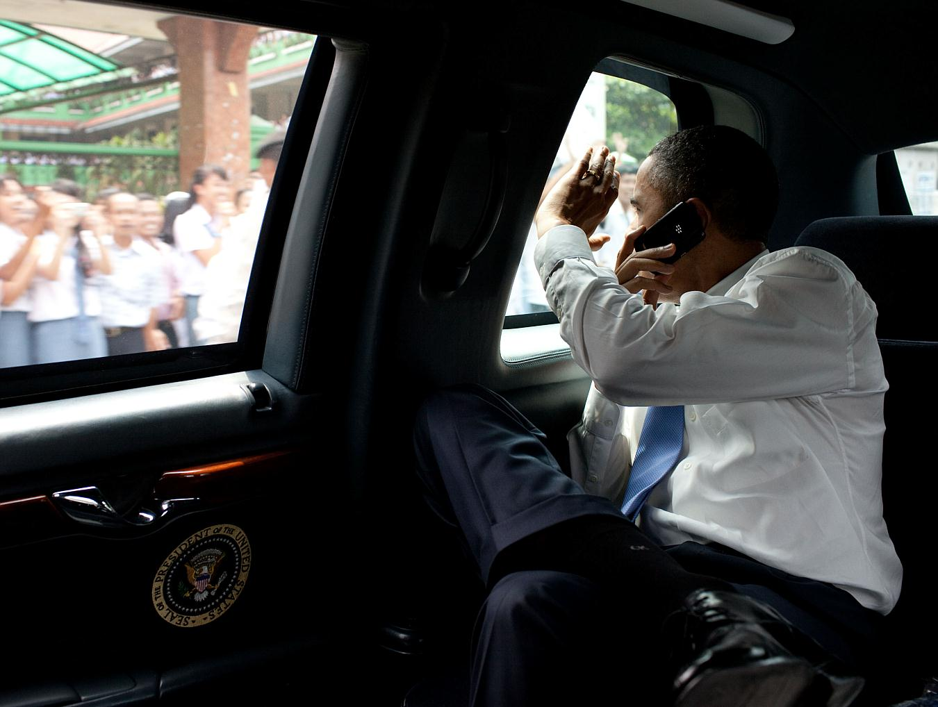 obama blackberry