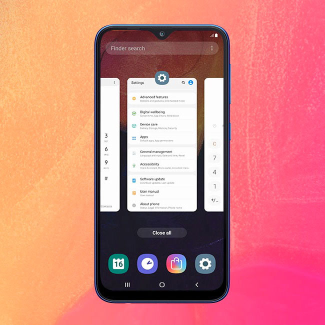 Galaxy A10: One UI